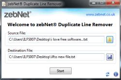 zebNet Duplicate Line Remover