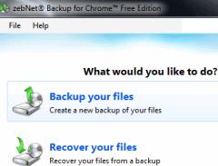 zebNet Backup for Chrome- auto backup Google Chrome and restore