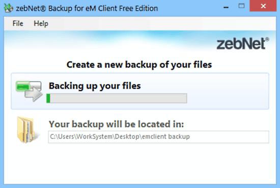zebnet backup for em client backup