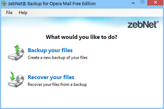 zebnet backup for opera mail mainui
