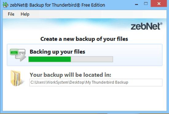 zebnet backup for thunderbird backup