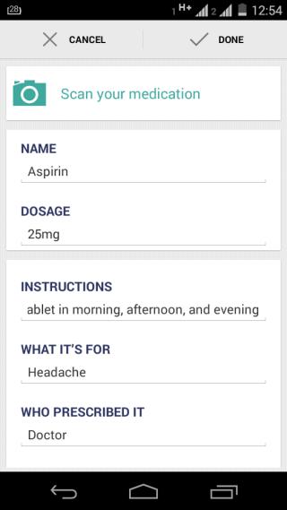 Adding Medicine