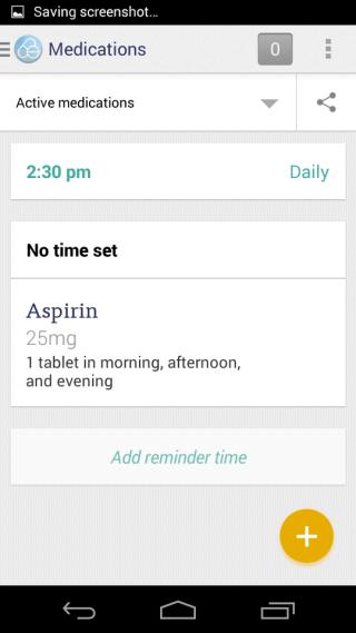 CareZone Meds Home Screen