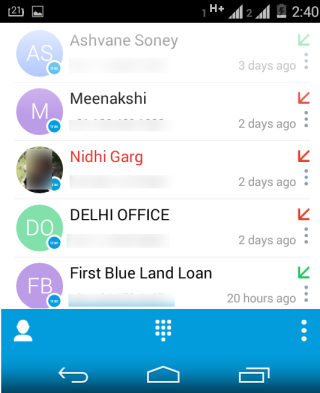 Complete Call Logs List