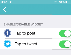 Enable Widget Setting from App