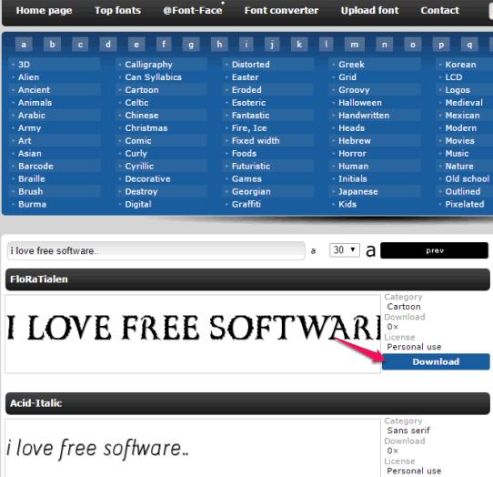 FontPark- download free fonts