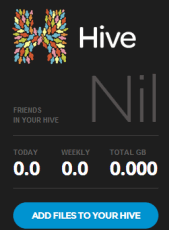 Hive- free unlimited cloud storage website