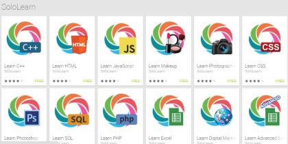 List of SoloLearn Apps