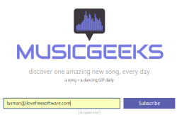 Musicgeeks- discover new song every day with dancing gif