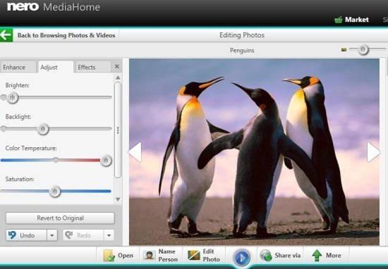 Nero MediaHome Image Editor