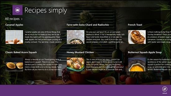 Recipes Simply control bar