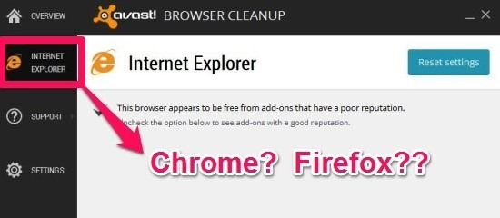 Avast 2015 Browser Cleanup