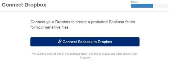 Sookasa Connect to Dropbox