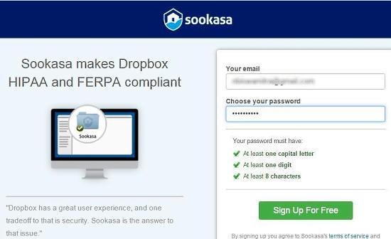 Sookasa Create Account