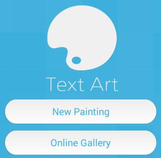 Text Art Welcome Screen