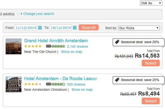 TripRebel Hotel Search