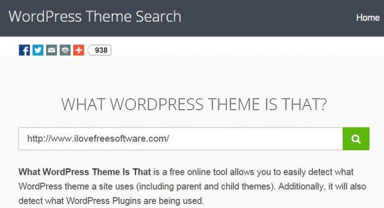 WhatWPThemeisThat Home Page