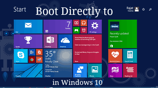boot directly to start screen header image