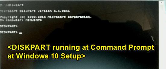 diskpart running