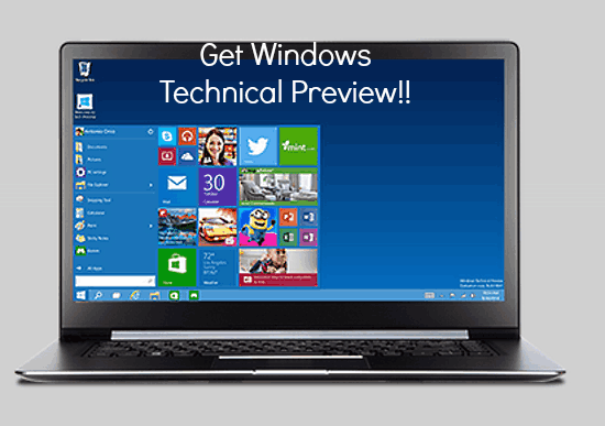 download windows technical preview header