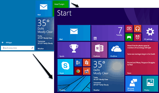 enable start screen in windows 10 header image