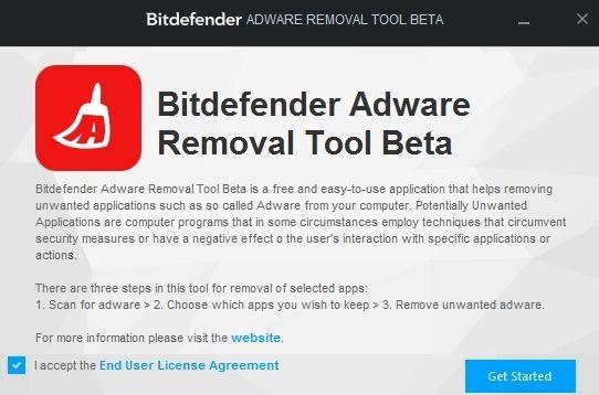 Bitdefender Adware Removal Tool Get Started