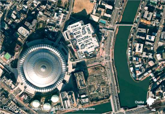 get satellite view of earth from new tab of Google Chrome