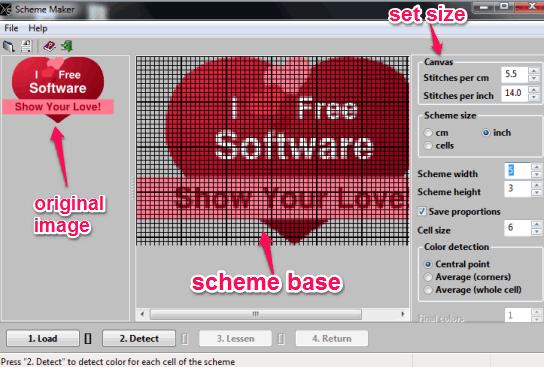 insert input image and generate scheme base