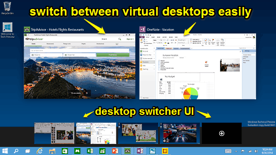 multiple virtual desktops