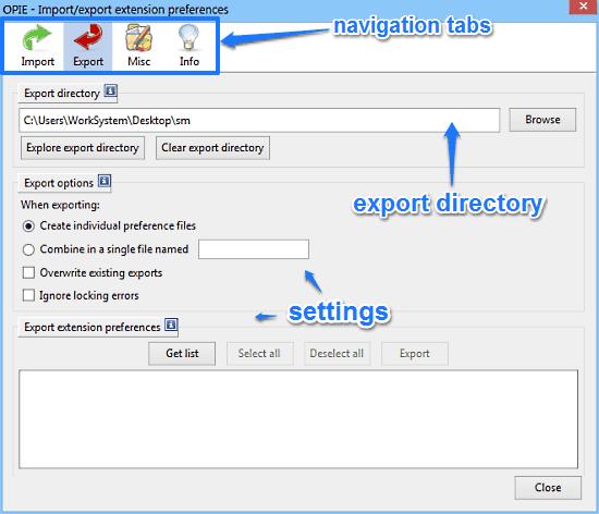 opie settings
