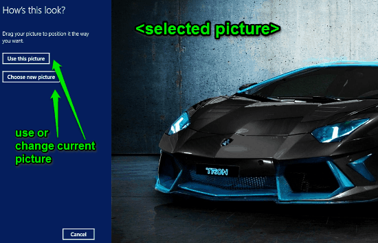 selected picture for password windows 10