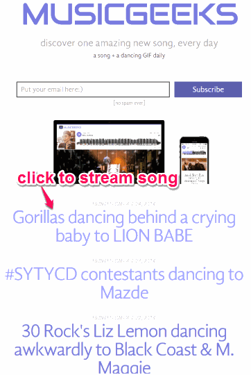 stream song added to this website
