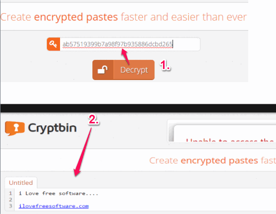 view encrypted private message