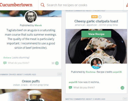 view recipe of other users and follow them
