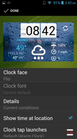 weather widget apps android 4