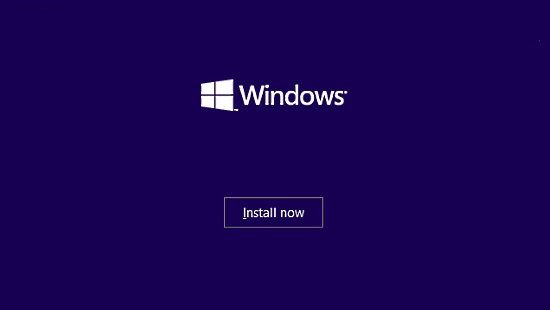 windows 10 install screen