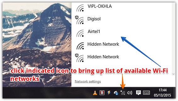 windows 10 list of wifi networks