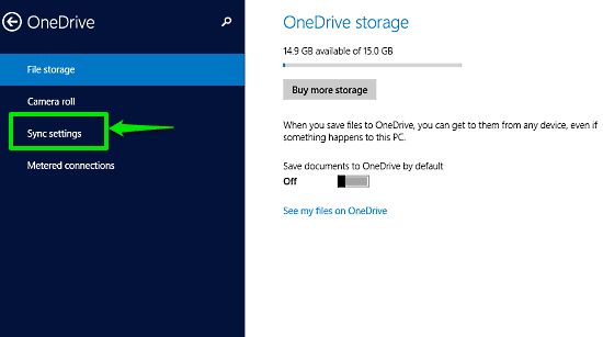 windows 10 onedrive settings