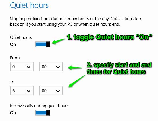windows 10 quiet hours