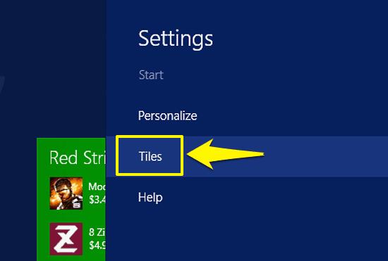 windows 10 slide out settings bar
