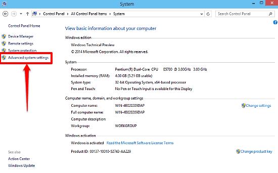 windows 10 system control panel