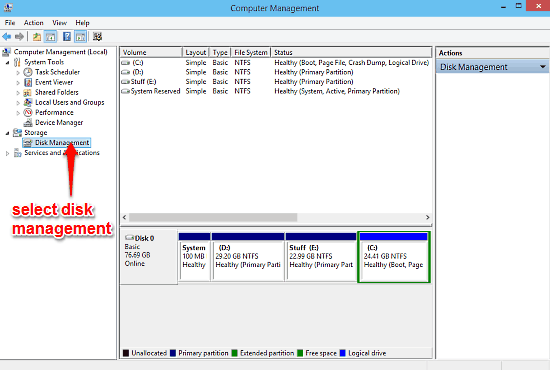 windows computer management