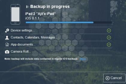 Backup in Progres