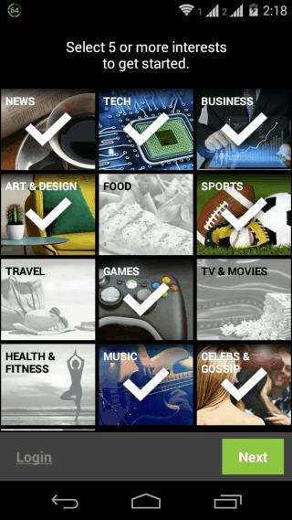 Choose Categories