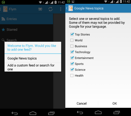 Android News Reader App With Auto Offline Save Mode