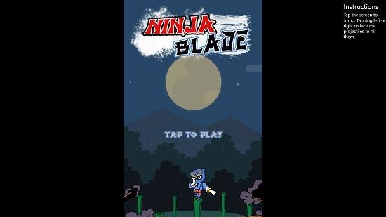 Jump Ninja Main Screen
