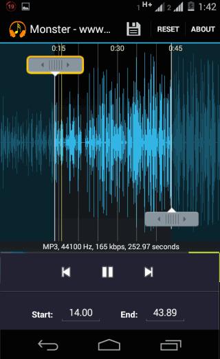 MP3 Cutter Interface