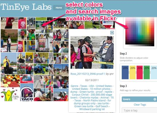 Multicolr Search Lab- search images by colors