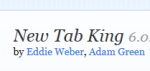 New Tab King- customize new tab of Firefox