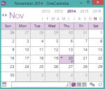 OneCal- display the list of notes of OneNote notebooks in a calendar